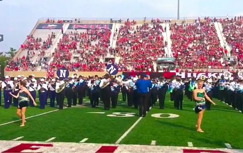 Naz band performs with Northern Illinois University marching band