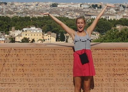 Addie Doyle experiences miracle during service in Europe
