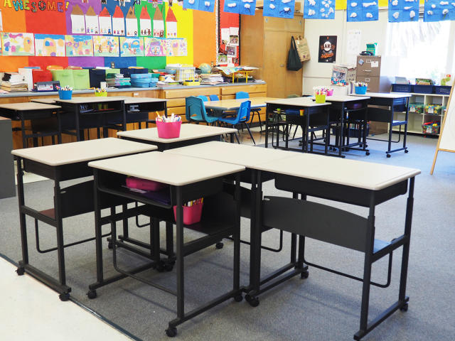 Standing in school becoming more popular for engagement, attention
