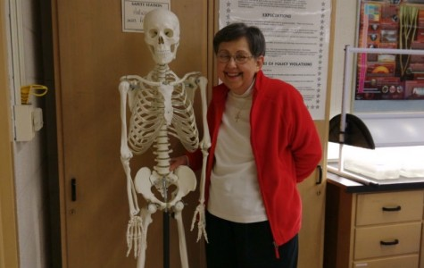 Biology department shares history of real skeleton