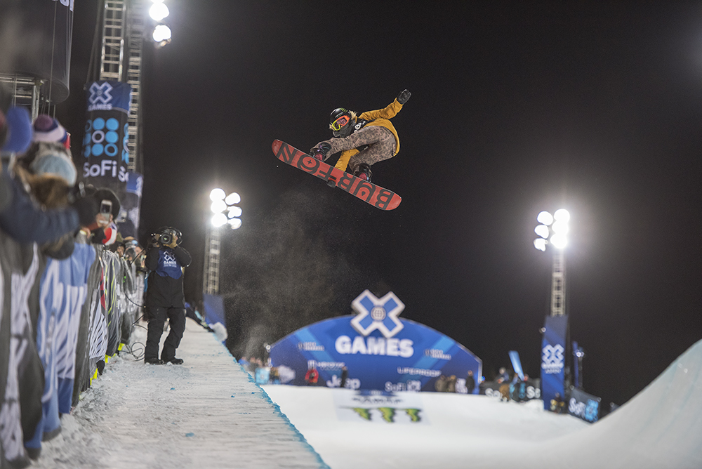 Chloe Kim from USA on her final run of Saturday when she won gold in Women's Snowboard SuperPipe.