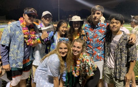 Fall Freddie Fanatic Leaders supporting the Hawaiian theme on Sept 6, 2019