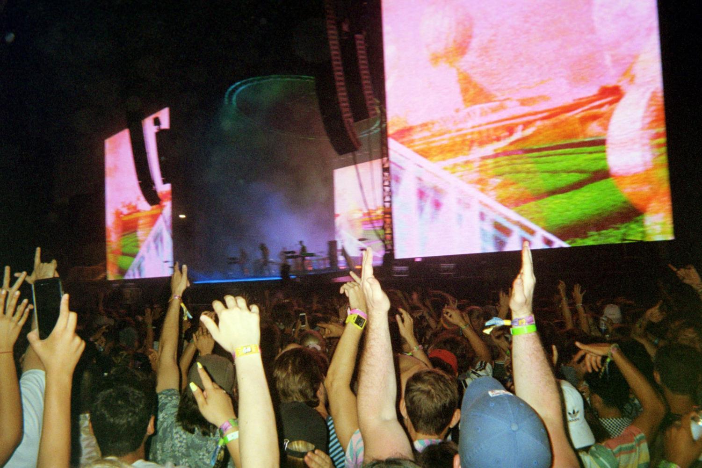 Tame Impala performing Friday night at Lollapalooza