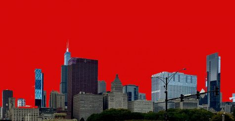 City of Chicago on September 26th, 2020 from Michigan Avenue (Photoshopped sky)