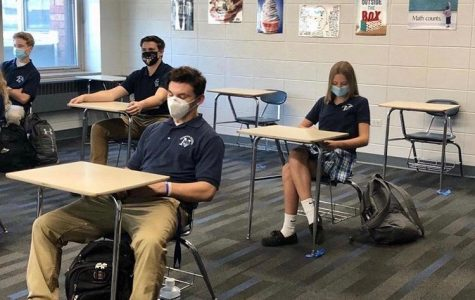 Nazareth seniors return to the classroom for the first time since March