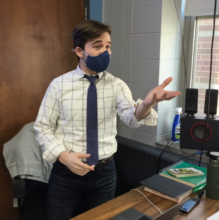 English department welcomes renaissance man Dustin Uher