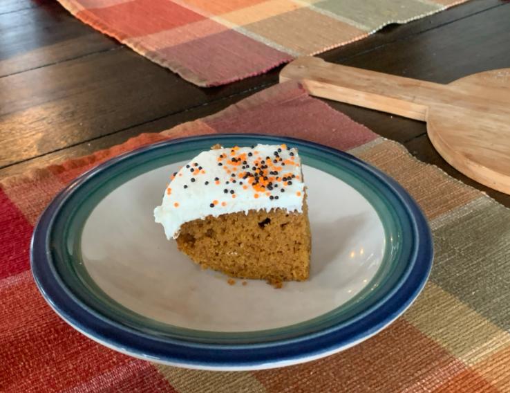 Slice of Grabowskis pumpkin cake. Photo by Olivia Grabowski