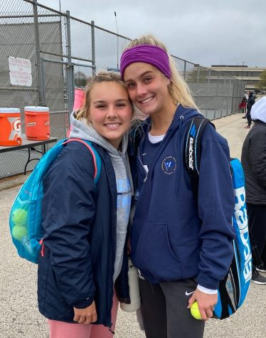 Hardy and Hyland after their first round win at the state competition on Thursday, October 21. Photo by Assistant Coach Laurie Severino